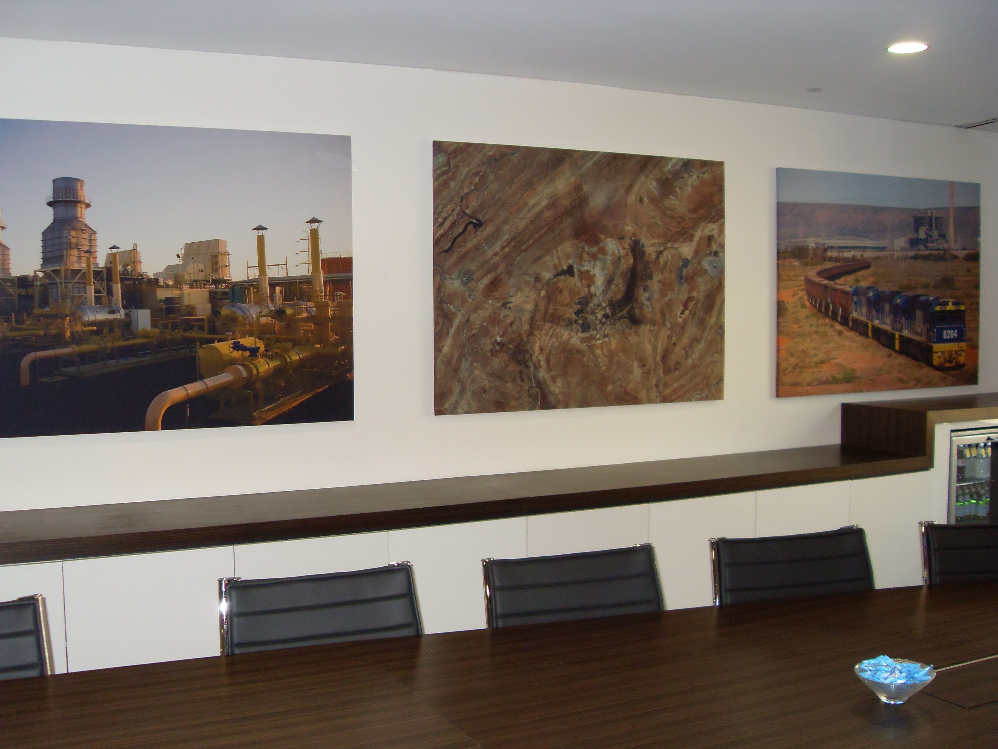 Feature Art Panels in Conference room