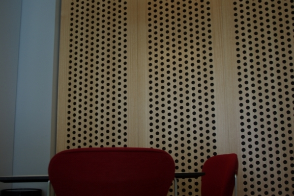 Acoustic wood wall panel