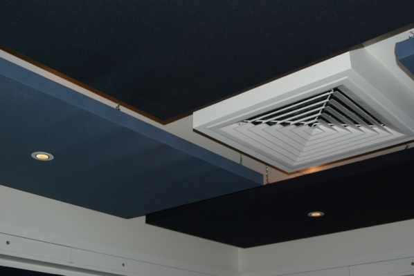 Serenity Acoustic Ceiling Panel with lights