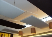Acoustic panels noisy hotel