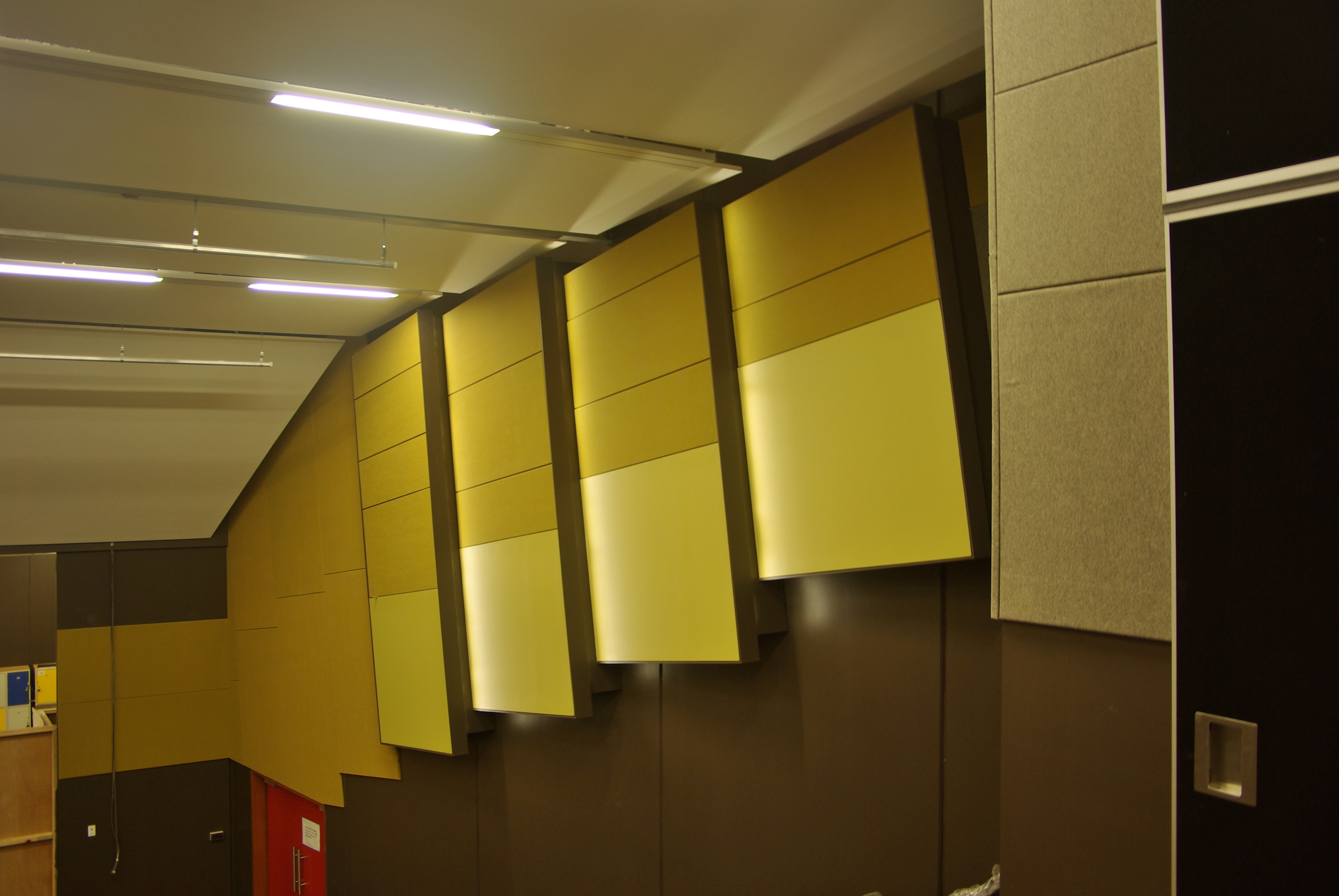 Fabric Wall Ceiling : Fabric acoustic panels sontext